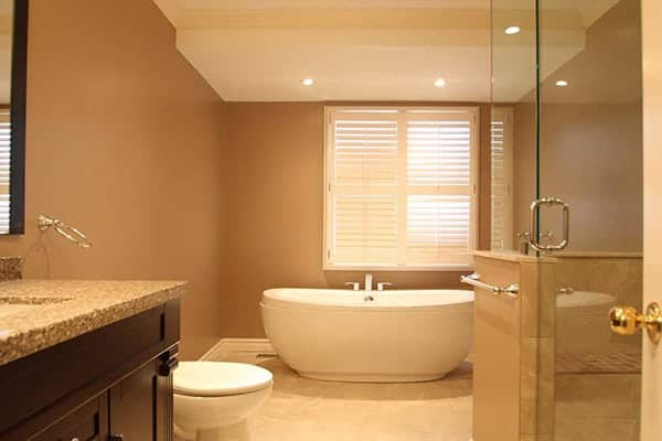 photo of a completed bathroom renovation