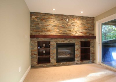courtice basement fireplace 5